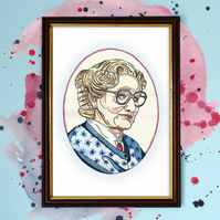 Mrs. Doubtfire Watercolour Print