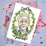 David Attenborough Handmade Card