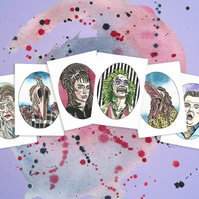 Beetlejuice Watercolour Print Gift Bundle