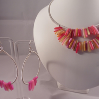 Barbados Beauty Necklace and earring set - 925 Shepard Hooks