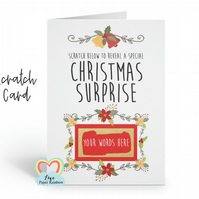 christmas scratch card christmas surprise baby reveal christmas card scratch off