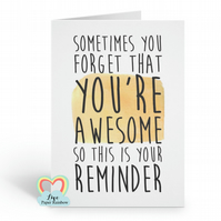 encouragement card, motivation card, thinking of you card, friend card, you are