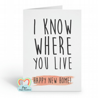 funny new house card, funny moving house card, funny new home card, new home car