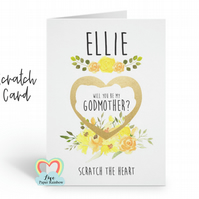 godmother scratch card, will you be my godmother, godmother proposal, scratch an