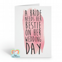 best friend maid of honour card bridesmaid proposal best friend bestie will you