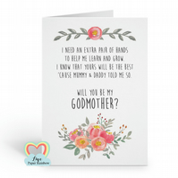 will you be my godmother, godmother poem, godfather proposal, floral godparents