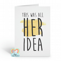 funny best man card this was all her idea usher card will you be my best man gro