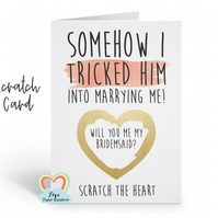 will you be my bridesmaid scratch card, will you be my maid of honour scratch ca