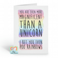 motivational card encouragement card unicorn card funny card friendship card bir