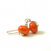 Pumpkin Orange Earrings