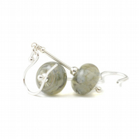Grey Glass Earrings