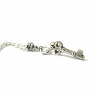 Little Key Necklace in Pure Silver