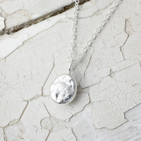 Silver Pebble Necklace - Handmade In Fine Silver
