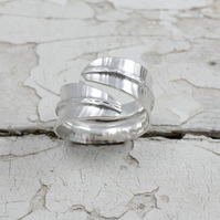 Silver Leaf Ring - Handmade In Recycled Sterling Silver