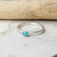 Turquoise Ring - Handmade In Recycled Sterling Silver