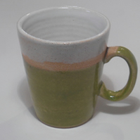 Green stoneware wheel thrown Mug