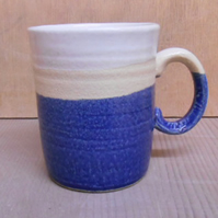 Stoneware white and Midnight blue Mug.