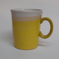 Wheel thrown Stoneware Sun Yellow Mug.