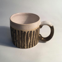 Bronze striped Stoneware Mug.