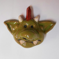 Ceramic Fungus the Bogeyman Head.