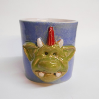 Fungus the Bogeyman Pale blue Stoneware Ceramic Mug.