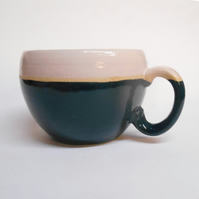 Huggable Sea Green Stoneware Mug.