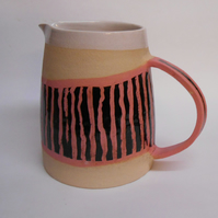 Unique Pink Striped Jug.