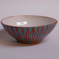 Petite red white and blue Bowl.