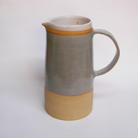 New Large Grey Water Jug Pitcher.
