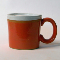 Brick Red Stoneware Mug.