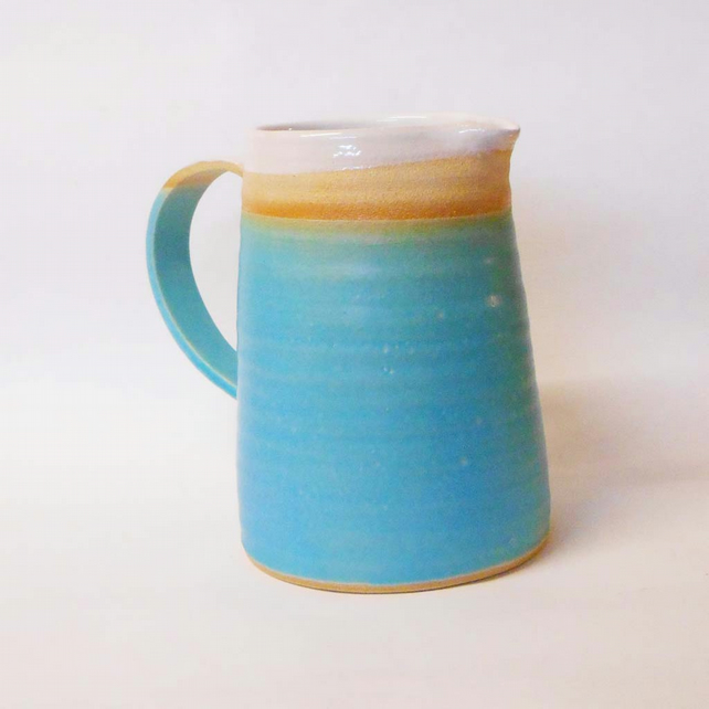 Turquoise Tapered Jug.