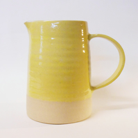 Jug classic shaped Sun Yellow Tapered Stoneware Ceramic.