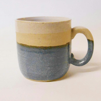 Wheel thrown Elf blue mug.