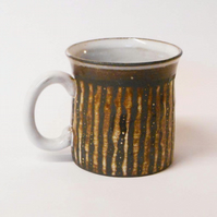 Black clay smaller Striped Mug.