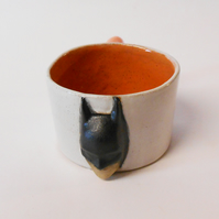 "Mug ""Batman does espresso"" Orange Ceramic"