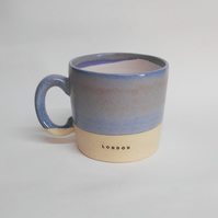 Mug London Elf Blue ceramic.