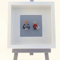 The Incredibles Dash and Syndrome Lego mini Figure frame