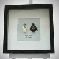 Bruce Wayne and Batman mini Figures frame.