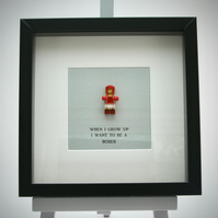 When I grow up I want to be A Boxer (female)  Lego frame.