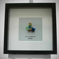 I'd Rather be Hiking mini Figure frame
