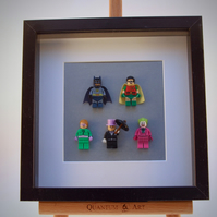 Batman & Robin Heroes and Villains frame.