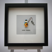 Gone Fishing Lego frame