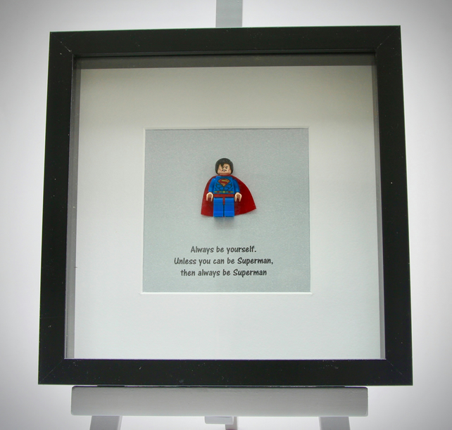 Superman mini Figure frame - Always be your self