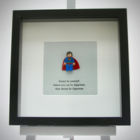 Superman mini Figure frame - Always be yourself
