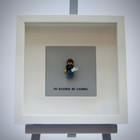I'd Rather be Gaming LEGO mini Figure frame.