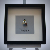 When I grow up I want to be A Doctor Lego frame