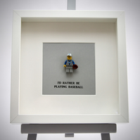 Lego Baseball player mini Figure frame