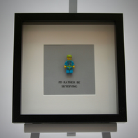 I'd Rather be Skydiving Lego mini Figure frame