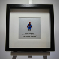 Spiderman mini Figure frame - Always be yourself