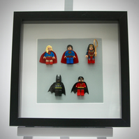 DC Comics Super Hero mini Figures frame